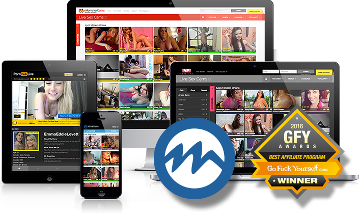 Fully responsive webcam affiliate sites